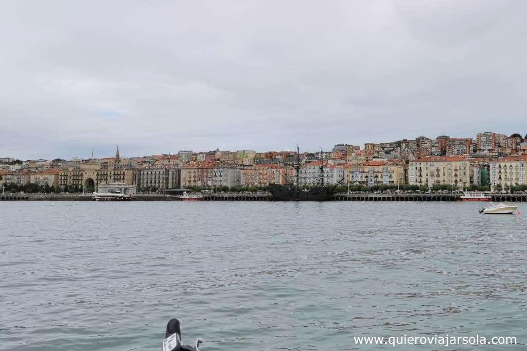 Viajar sola a Santander, vista Los Reginas