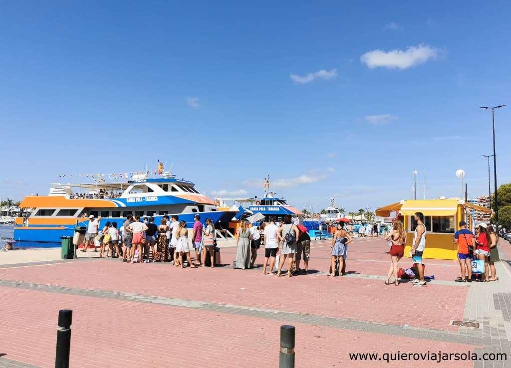 Cómo llegar a Tabarca, puerto Santa Pola