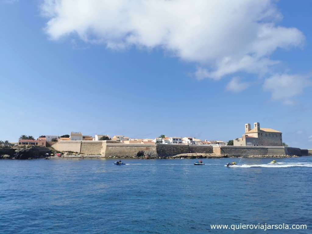 Cómo llegar a Tabarca, vista isla