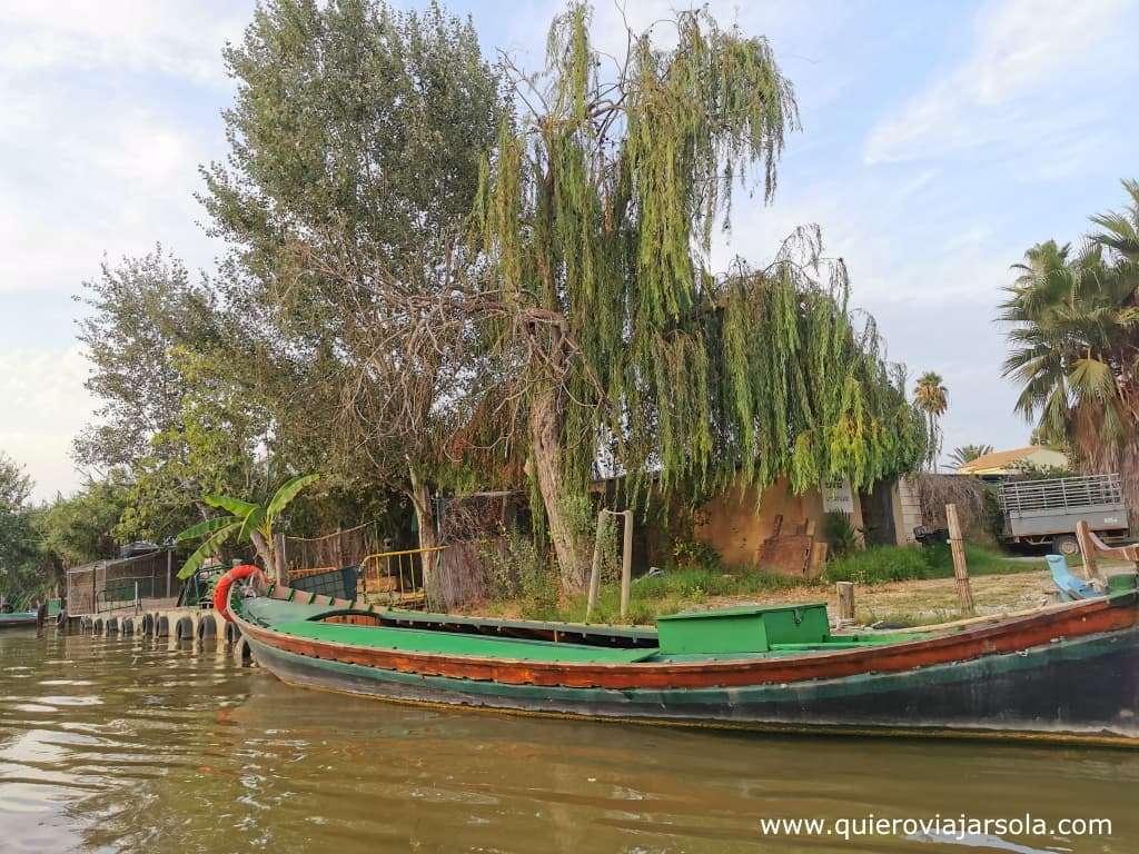 Cómo visitar la Albufera de Valencia, barcaza