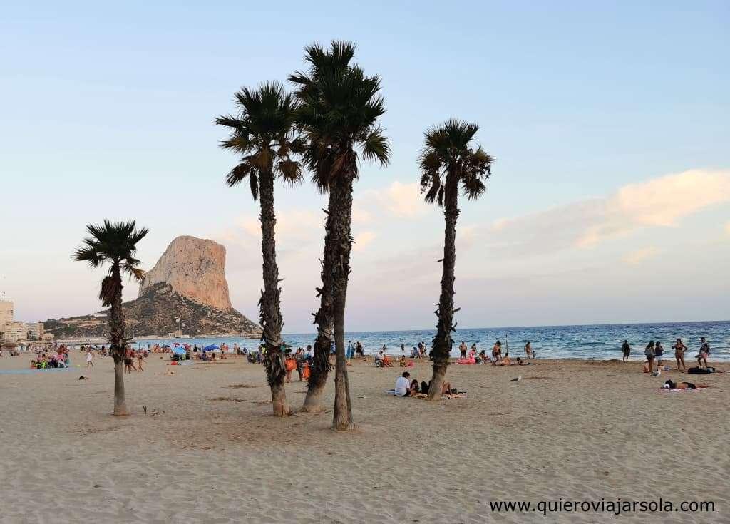 Qué hacer en Calpe, playas
