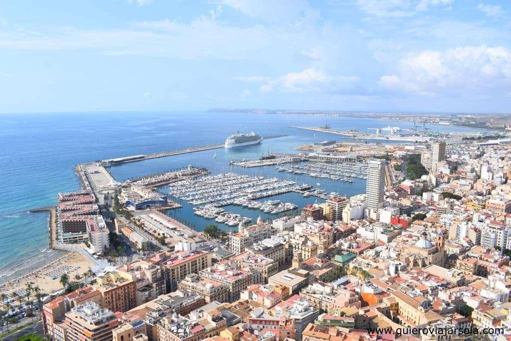 Viajar sola a Alicante, vista ciudad