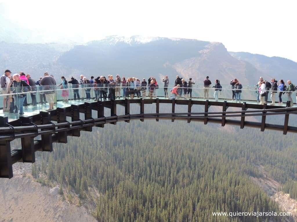 Viajar sola a las Montañas Rocosas de Canadá, Glacier Skywalk